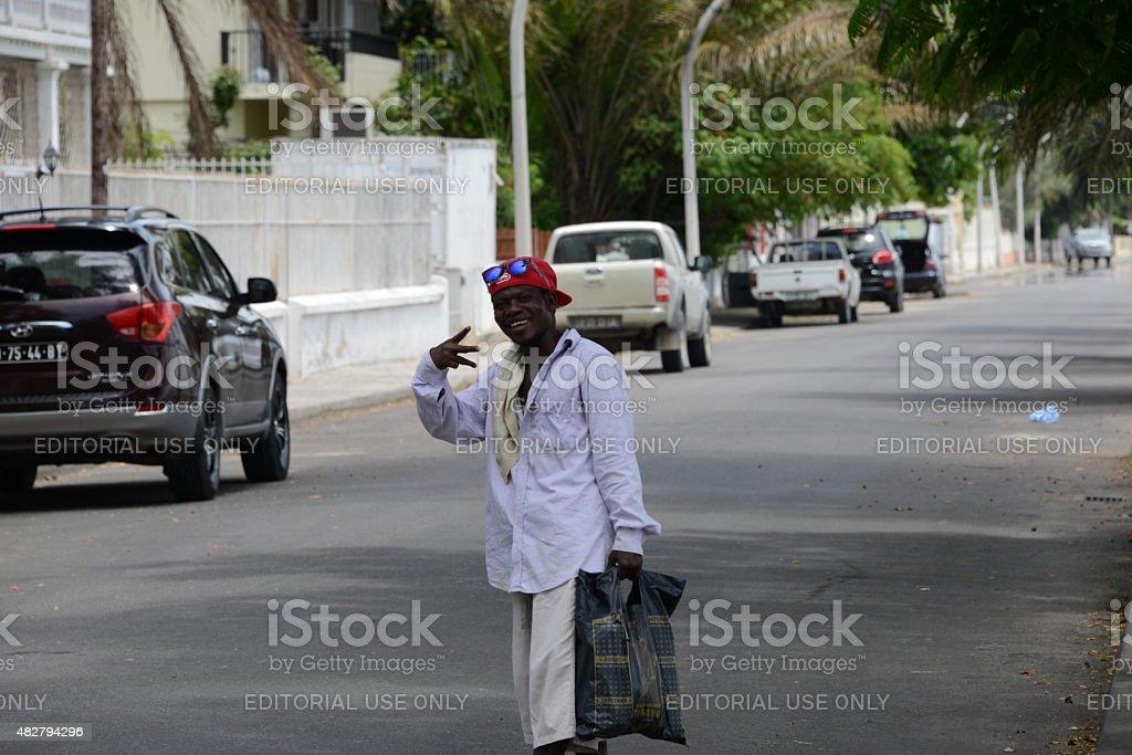 Angolan Street Guy Natural Happiness royalty-free stock photo
