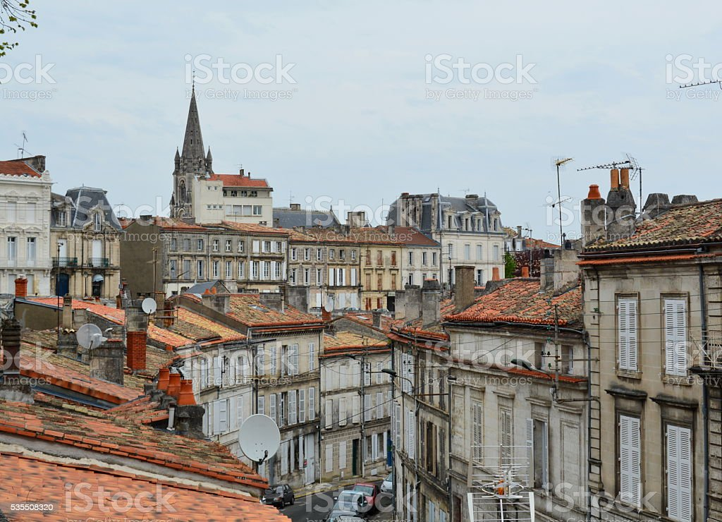 Angouleme city, France, East rampart. stock photo