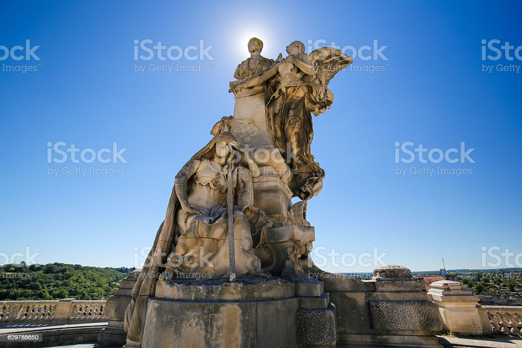 Angouleme, France. Statue of Lazare Carnot (1753 - 1823) stock photo
