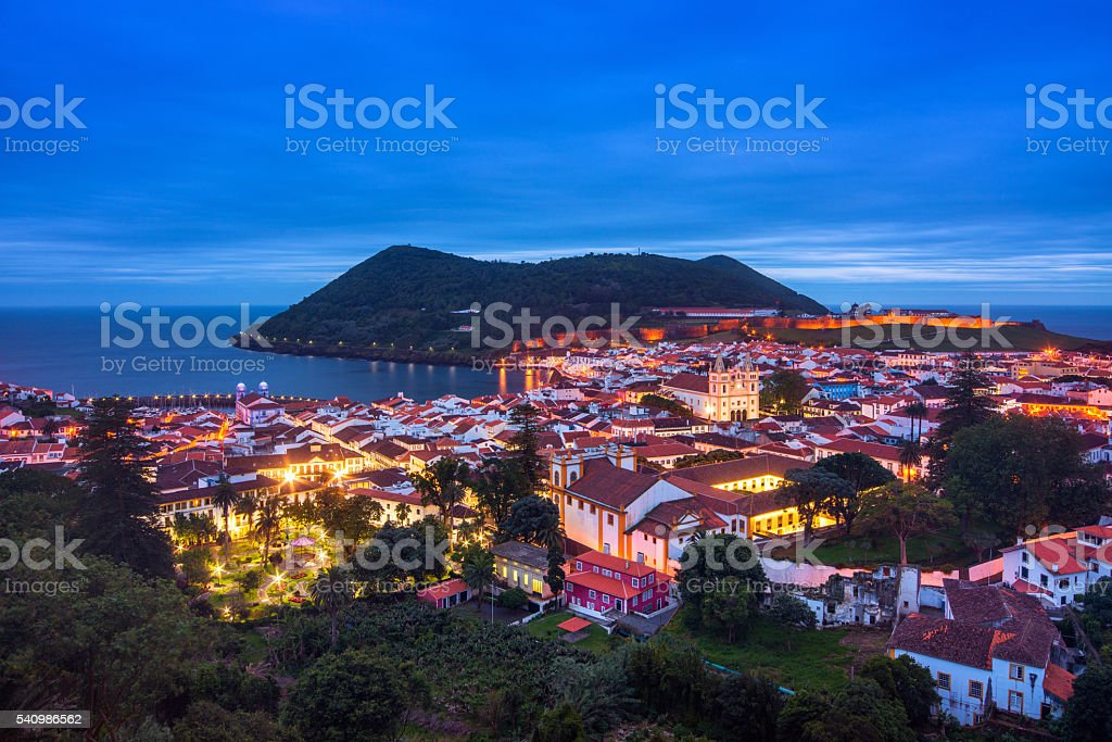 Angra do Heroismo on Terceira Island (Azores) stock photo