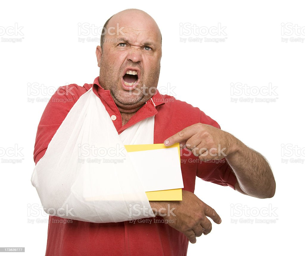 Angry Accident Victim royalty-free stock photo