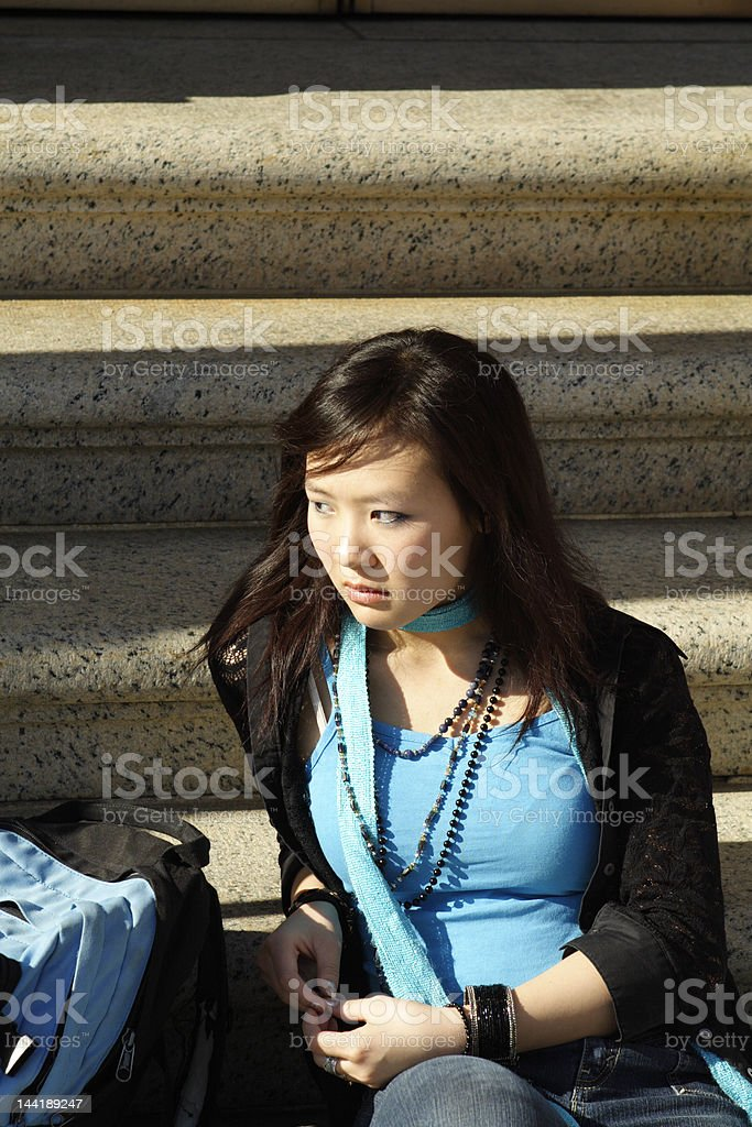 Angry Asian Student royalty-free stock photo