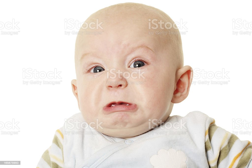 Angry baby stock photo