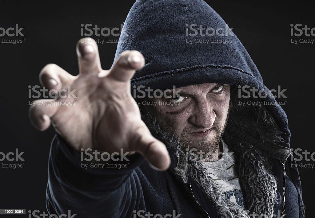 Angry bandit royalty-free stock photo