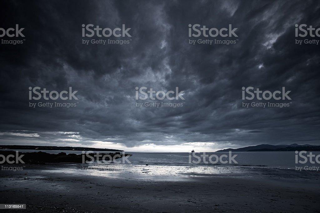 Angry Beach stock photo