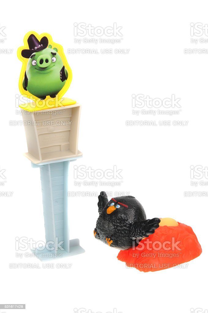 Angry Birds 2016 Happy Meal Toy stock photo