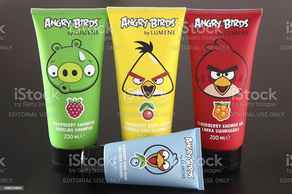 Angry Birds by LUMENE royalty-free stock photo