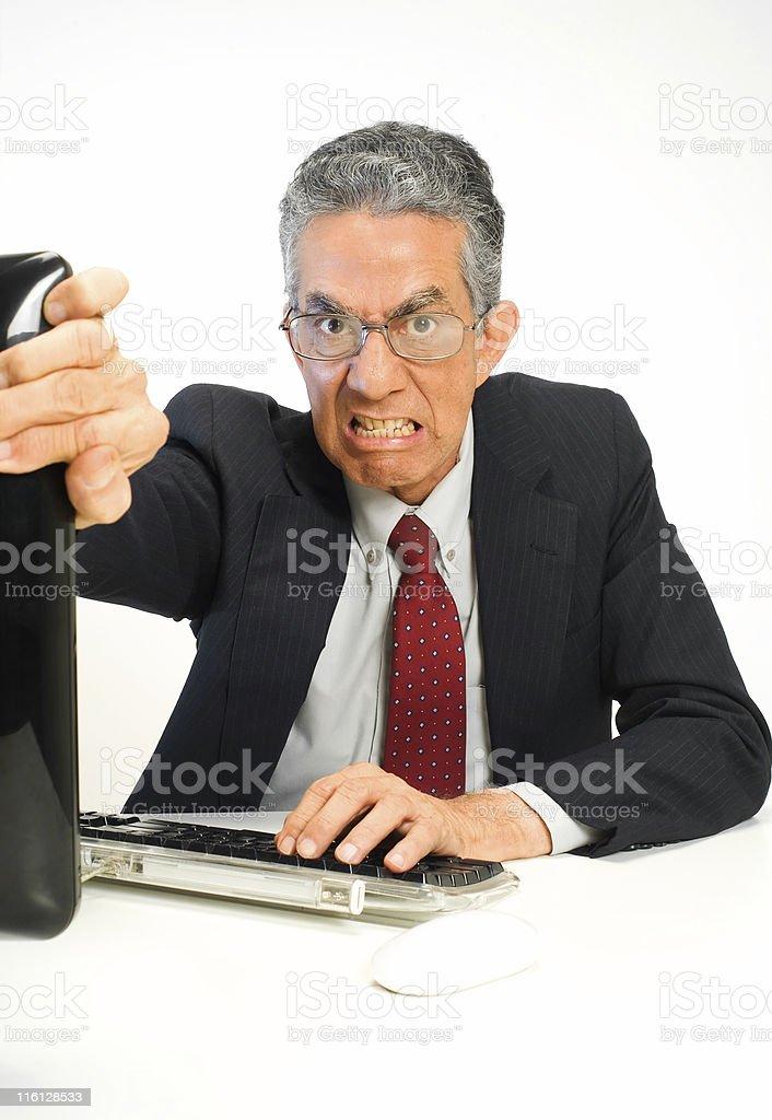 Angry Boss!! stock photo