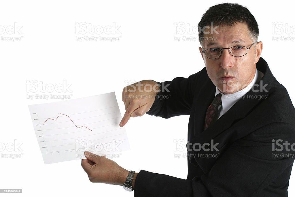 Angry boss stock photo