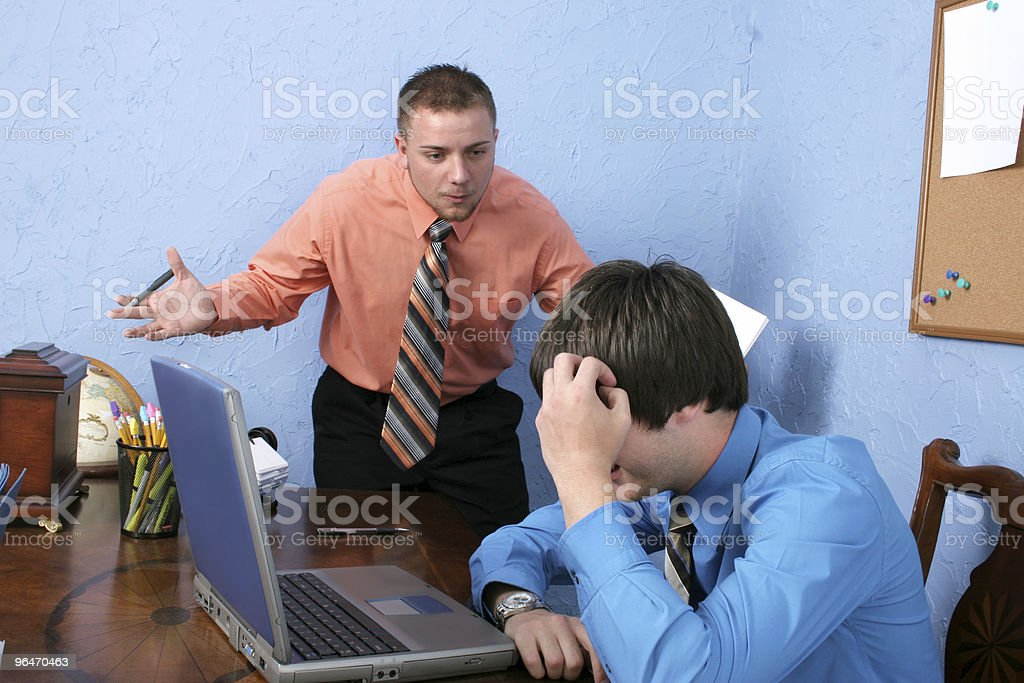 Angry Boss royalty-free stock photo