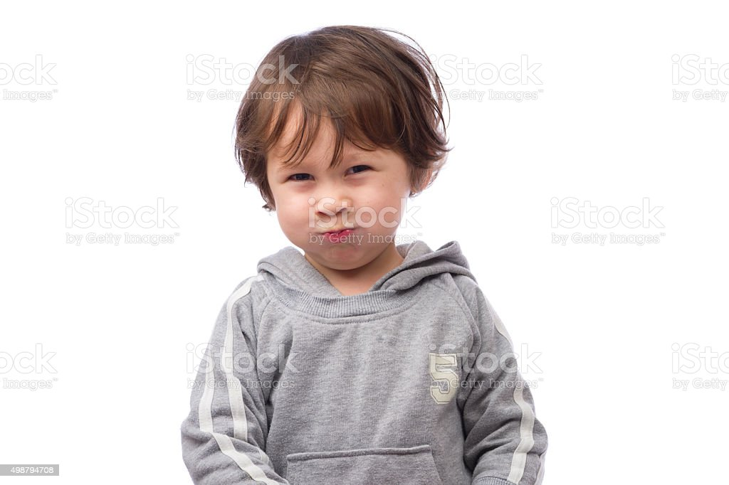 Angry Boy Face stock photo