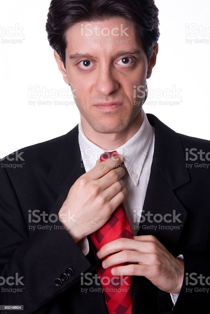 Angry business man stock photo
