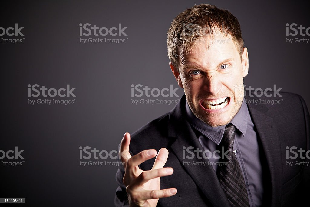 angry business men royalty-free stock photo
