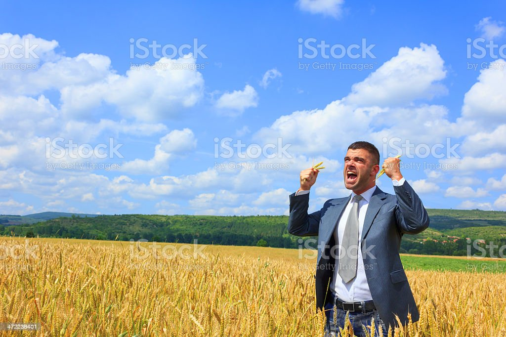 Angry businessman outside royalty-free stock photo