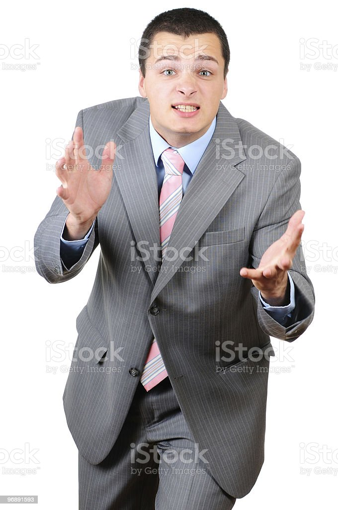 Angry businessman stock photo
