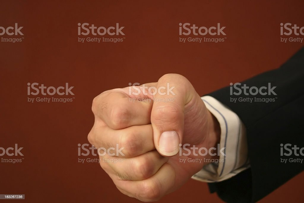Angry Businessman's Fist II royalty-free stock photo