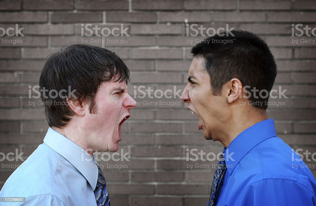 Angry Businessmen royalty-free stock photo
