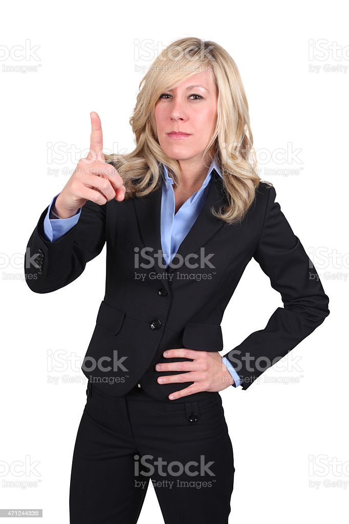 Angry businesswoman manager stock photo