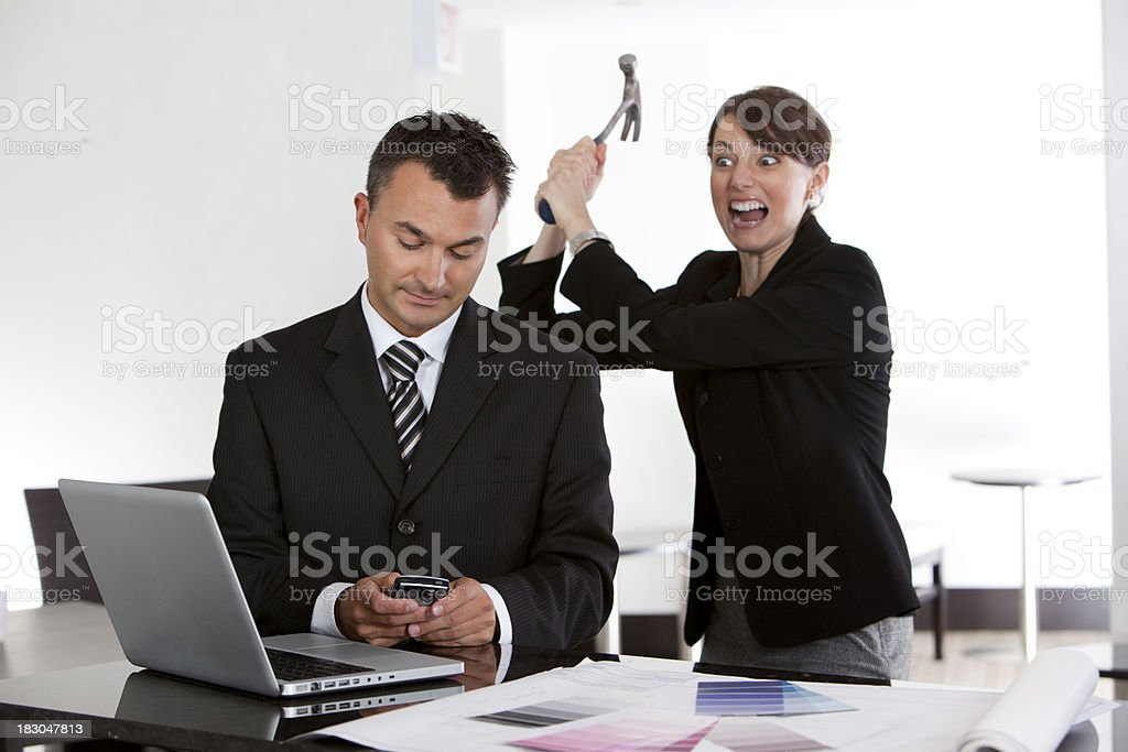 Angry Businesswoman royalty-free stock photo
