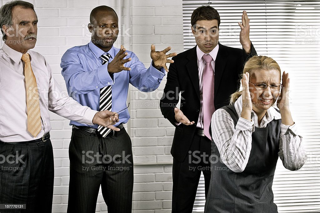 Angry colleagues royalty-free stock photo