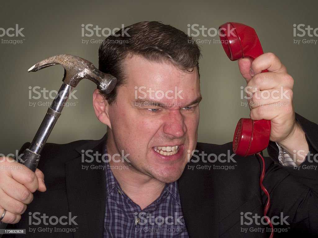 angry contractor royalty-free stock photo