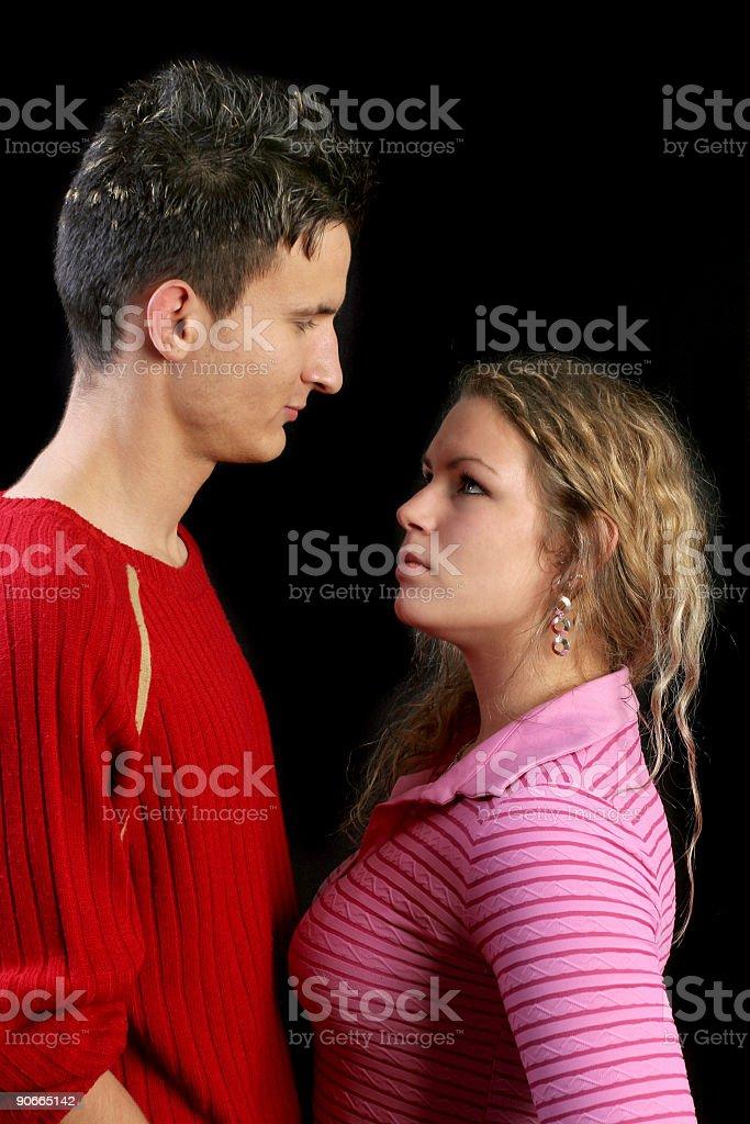Angry couple II stock photo
