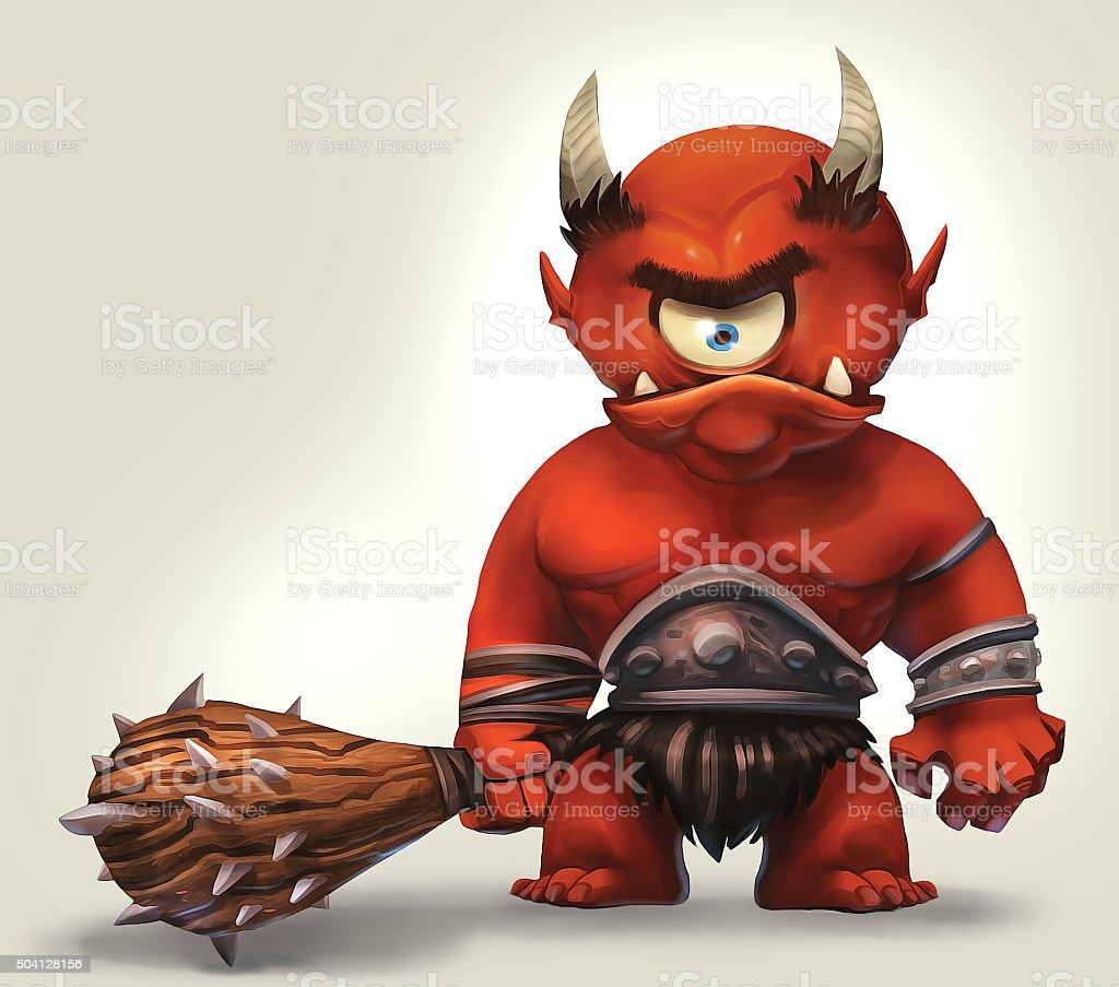 Angry Cyclops stock photo