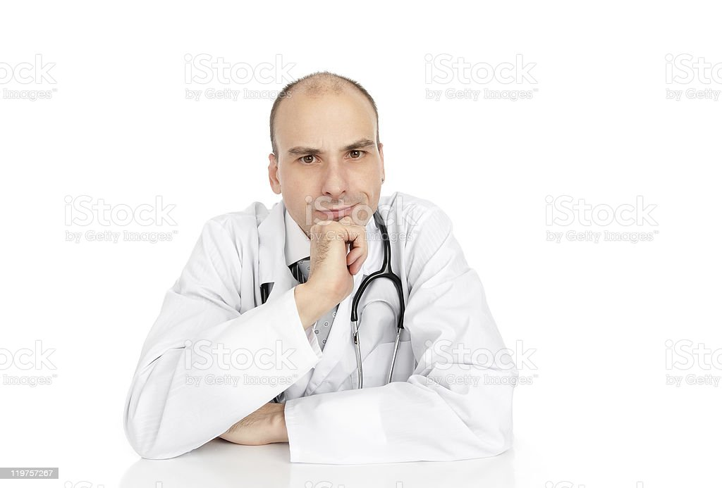 angry doctor royalty-free stock photo