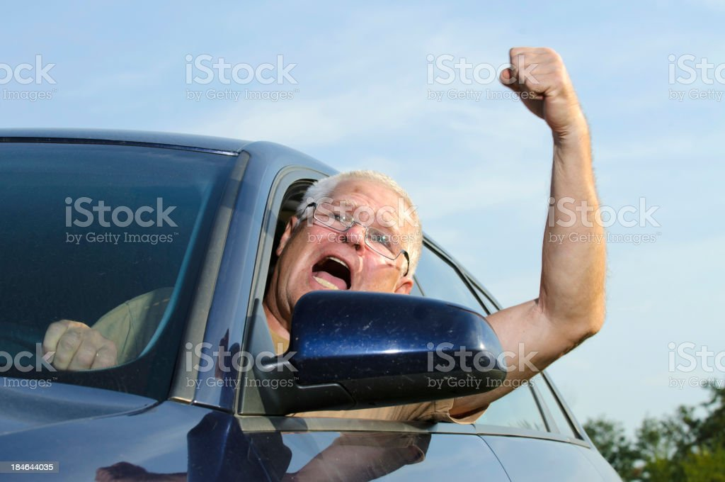 Angry driver stock photo