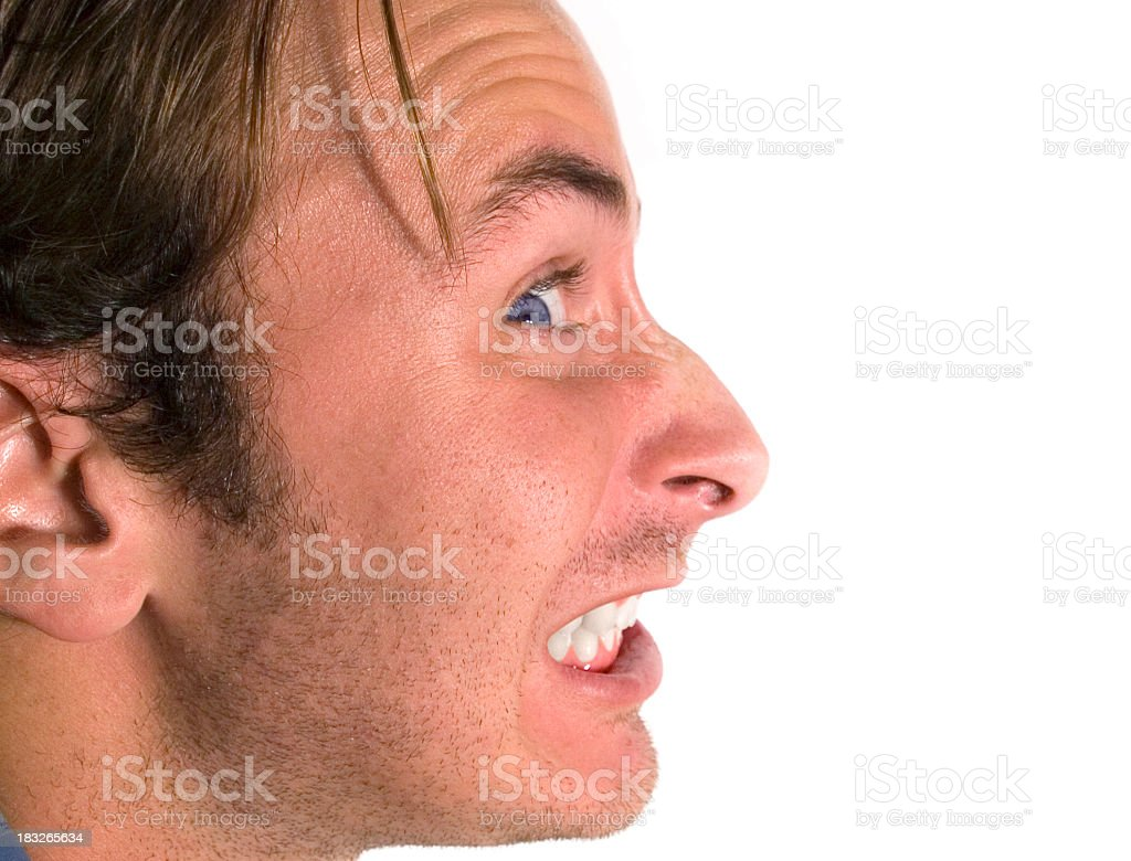 Angry face!!! stock photo