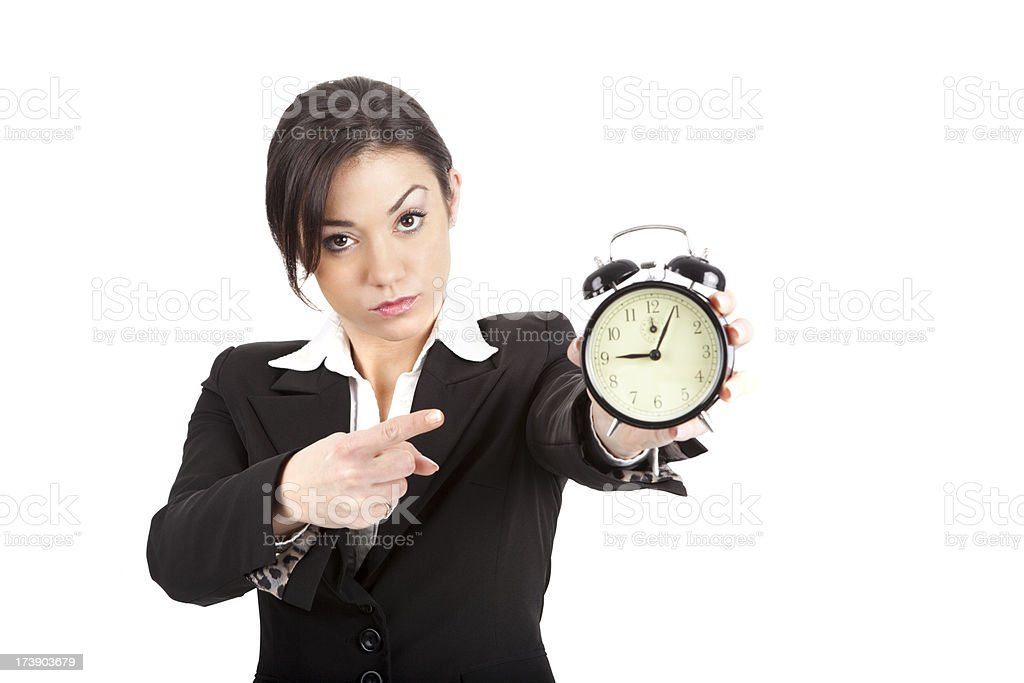 Angry Female Boss royalty-free stock photo