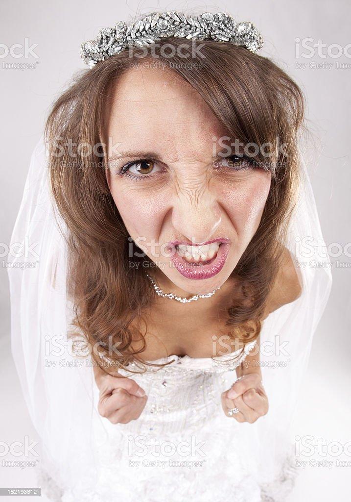 Angry Fisheye Bride stock photo