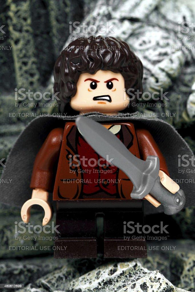 Angry Frodo stock photo