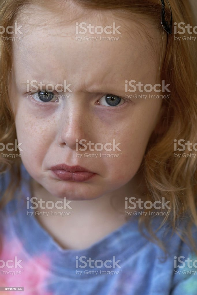 Angry, Frowning Child royalty-free stock photo