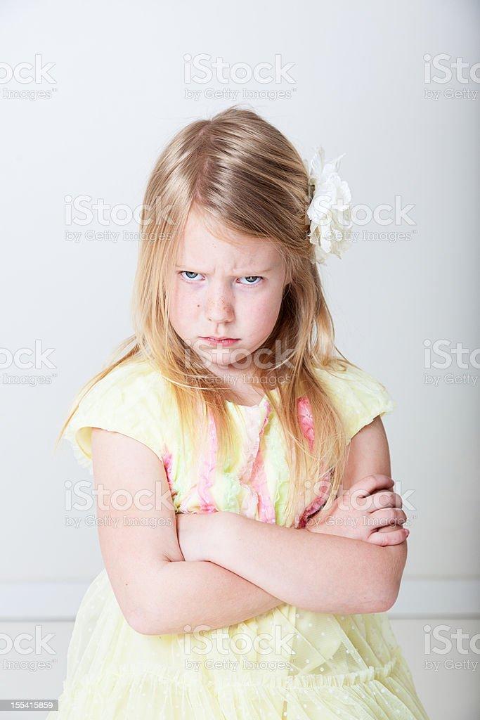 Angry girl stock photo