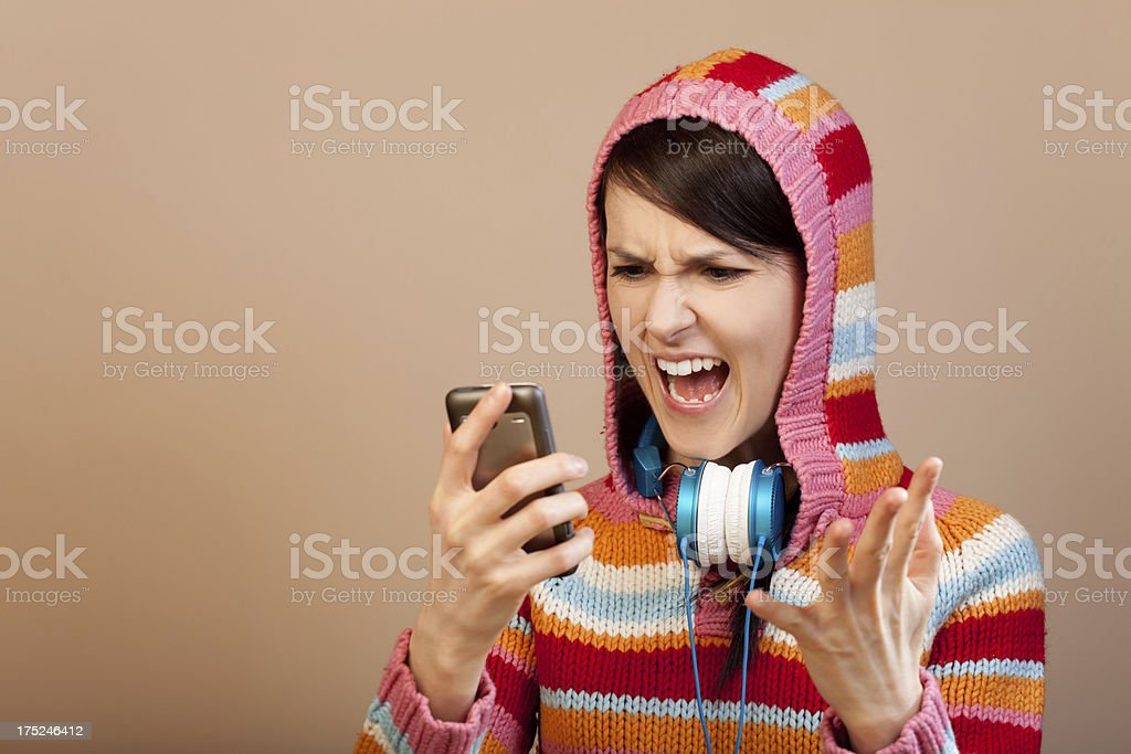 Angry girl royalty-free stock photo