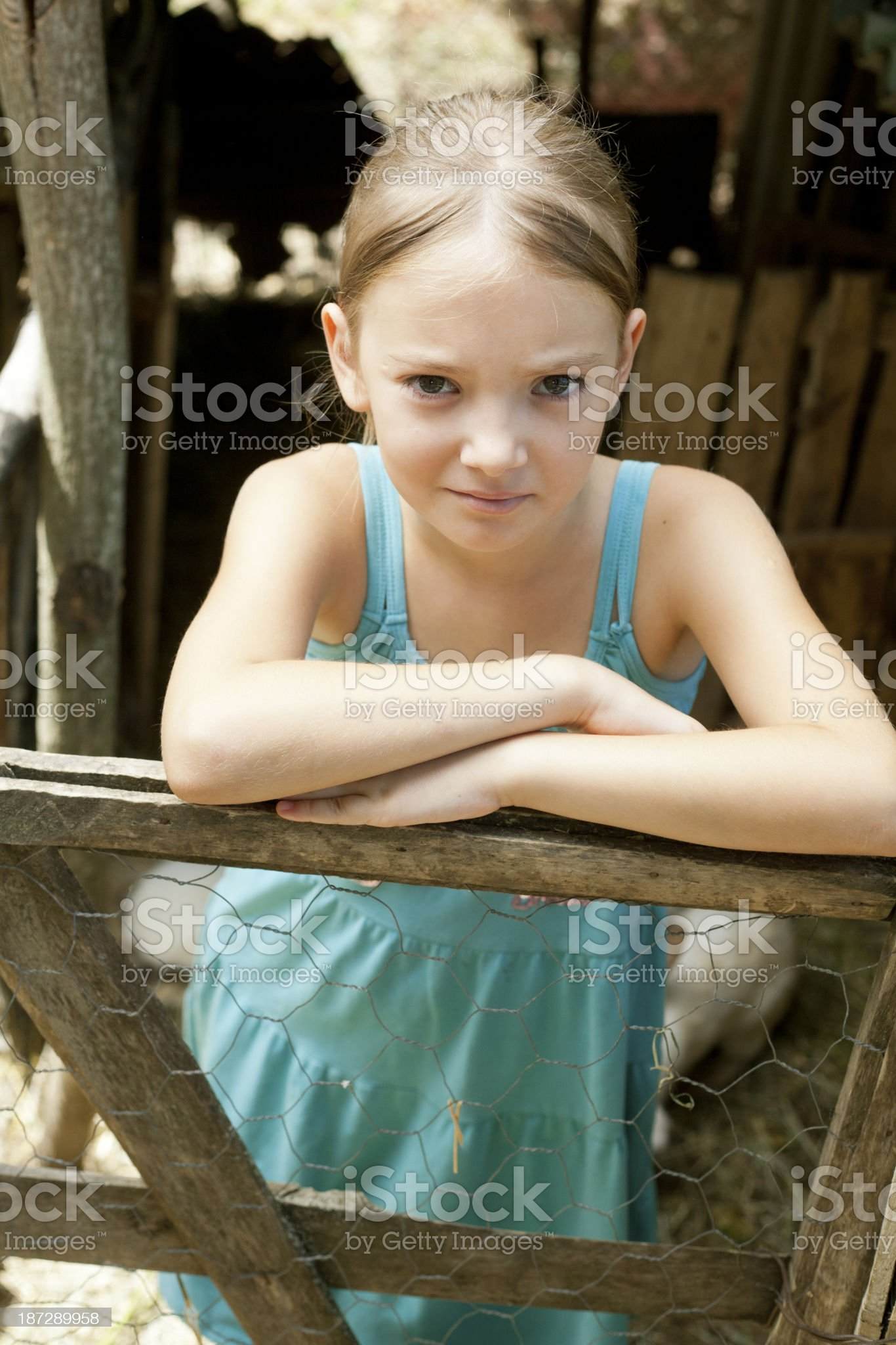 angry girl royalty-free stock photo