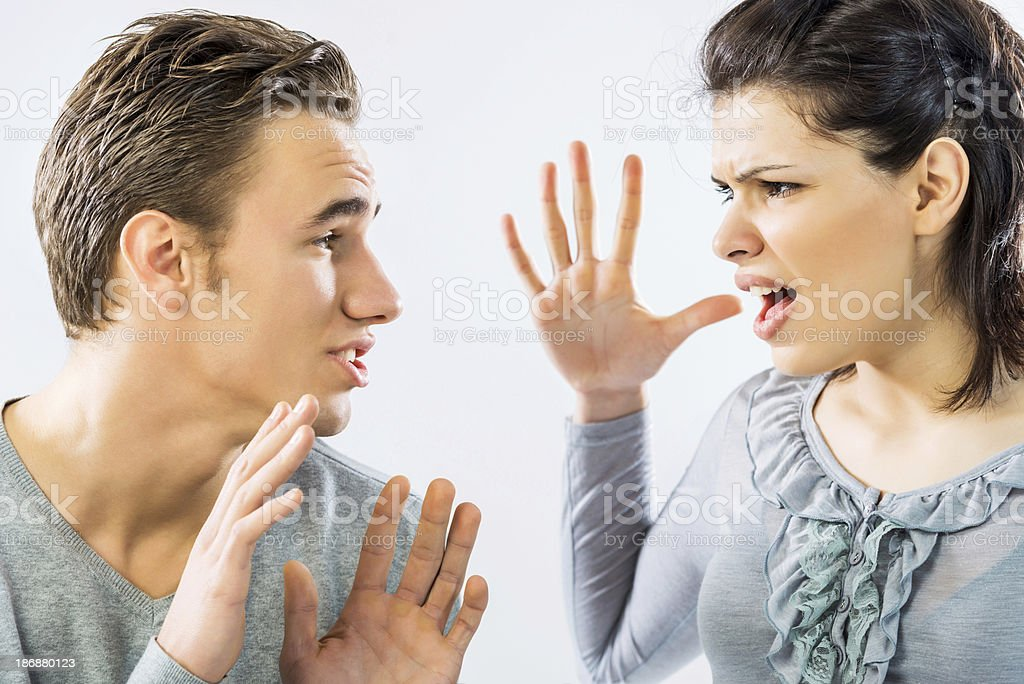 Angry girlfriend. royalty-free stock photo