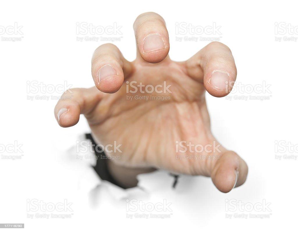 En colère main photo libre de droits