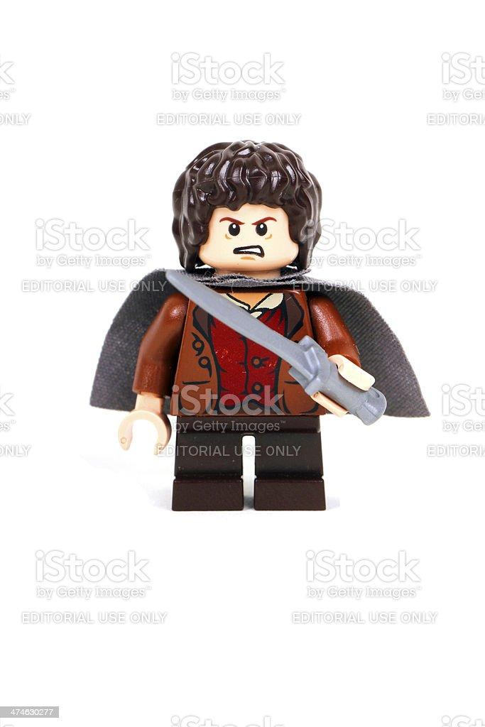 Angry Hobbit stock photo