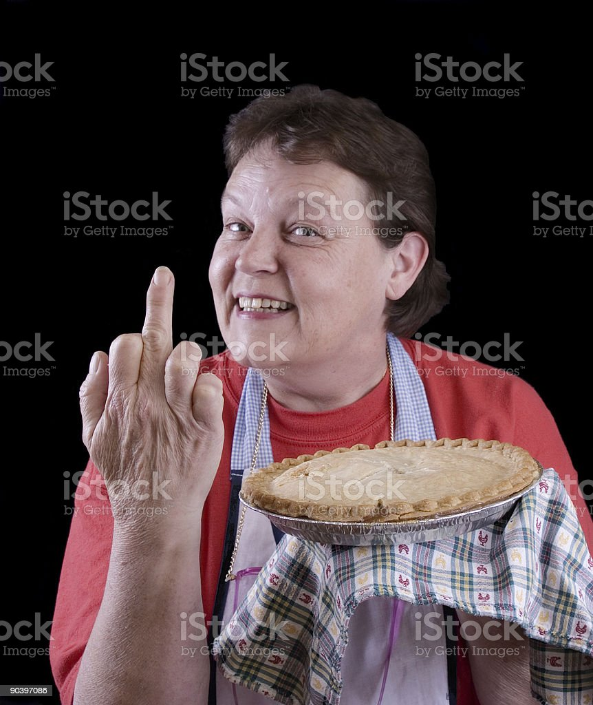 Angry housewife royalty-free stock photo