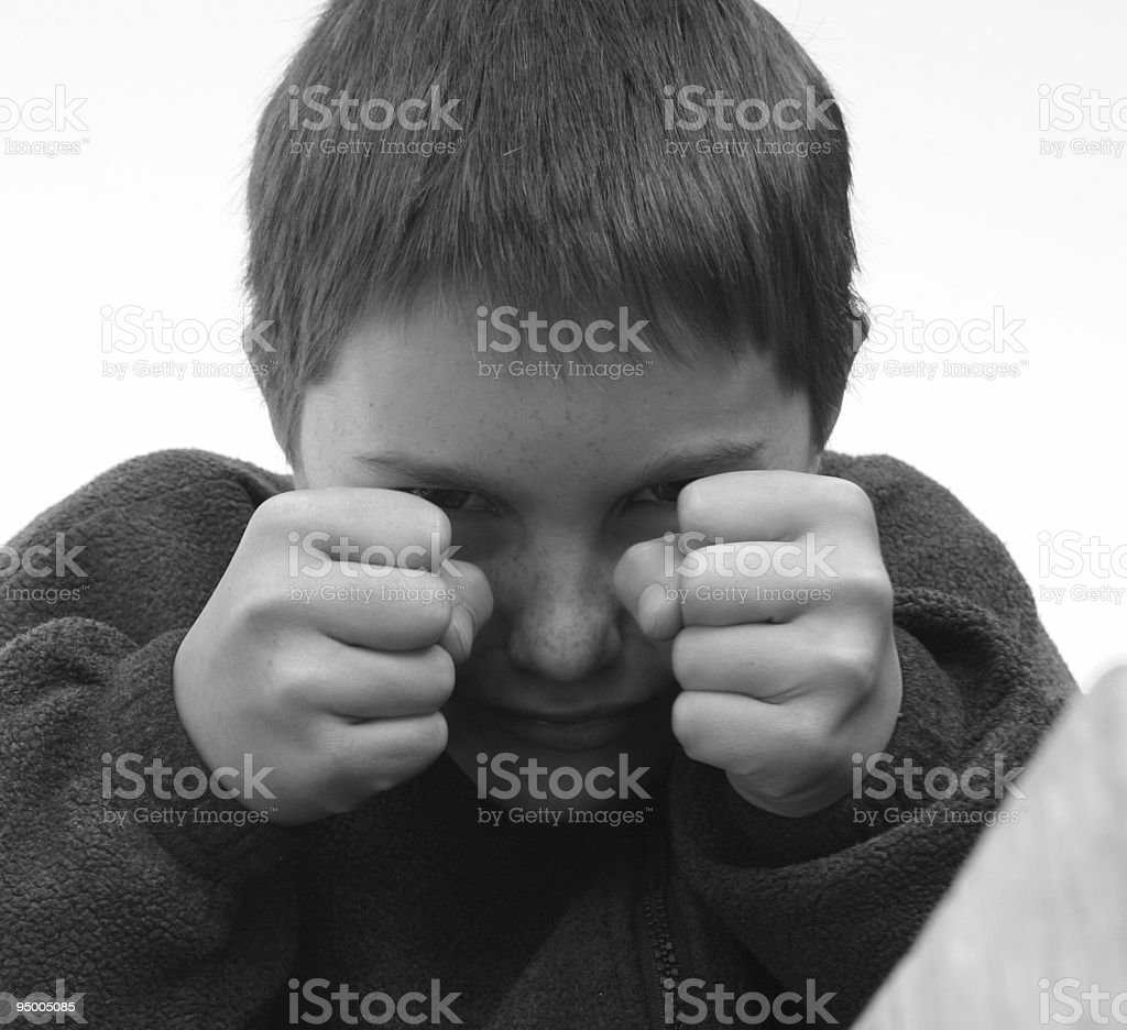 Angry Joker Boy stock photo
