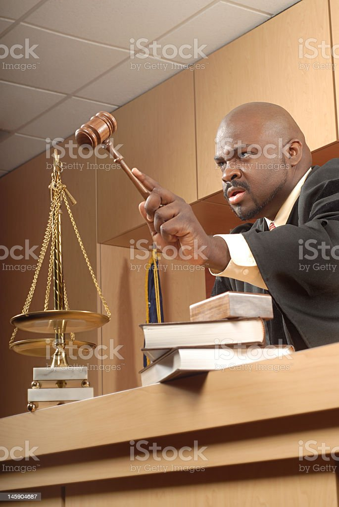 Angry judge royalty-free stock photo