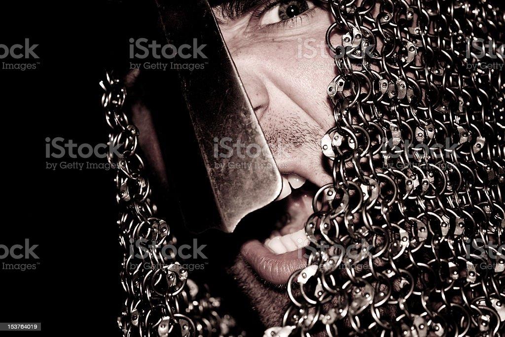 Angry knight royalty-free stock photo