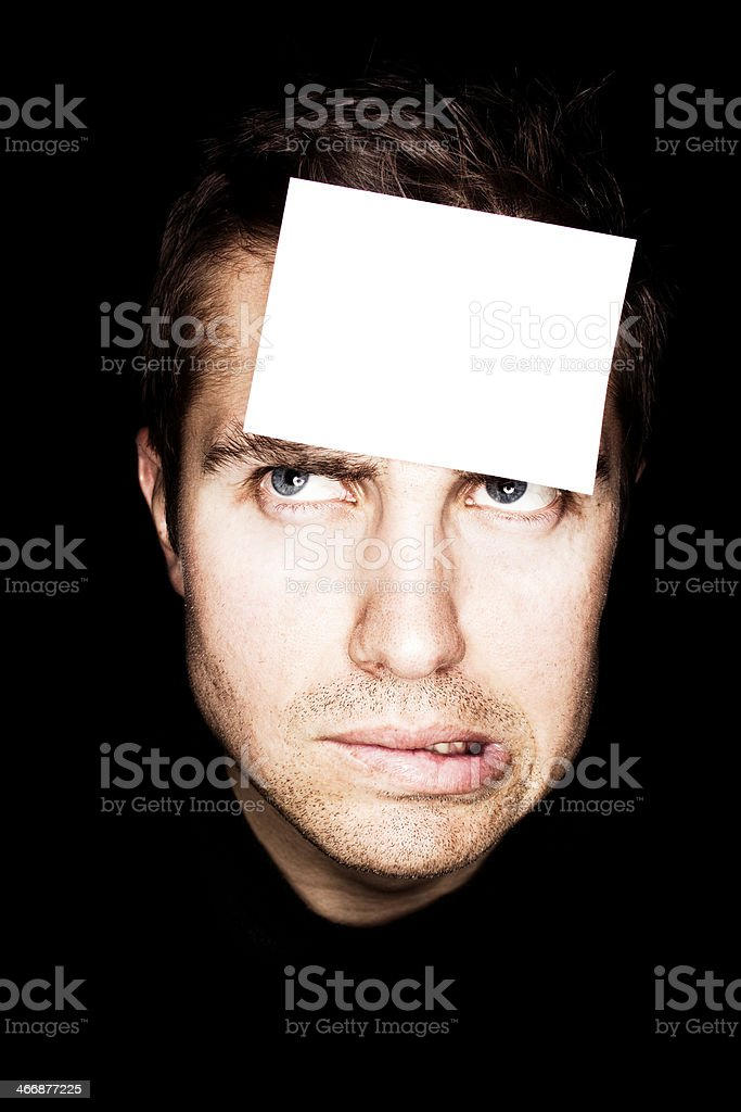 Angry Label royalty-free stock photo