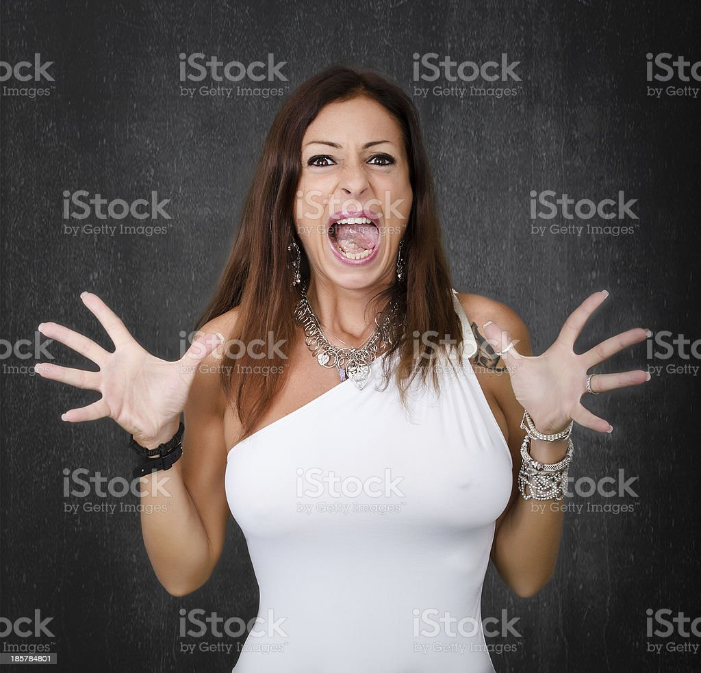 angry lady screaming royalty-free stock photo