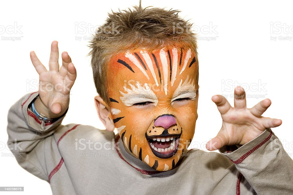 Angry lion stock photo