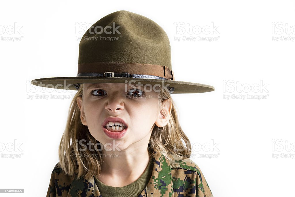 Angry Little Girl! stock photo