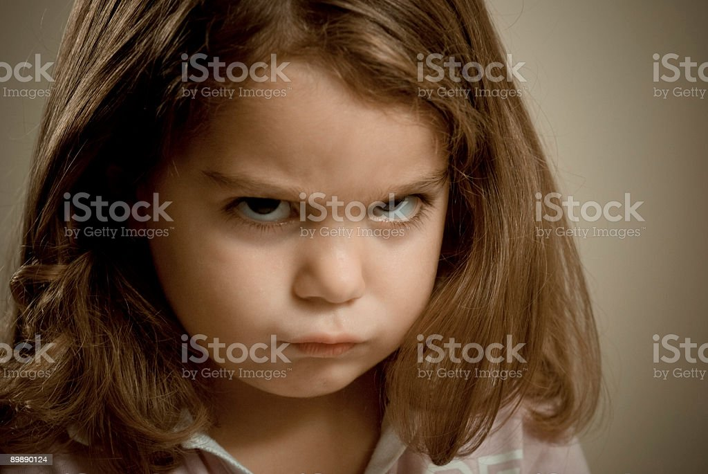 Angry Little Girl royalty-free stock photo