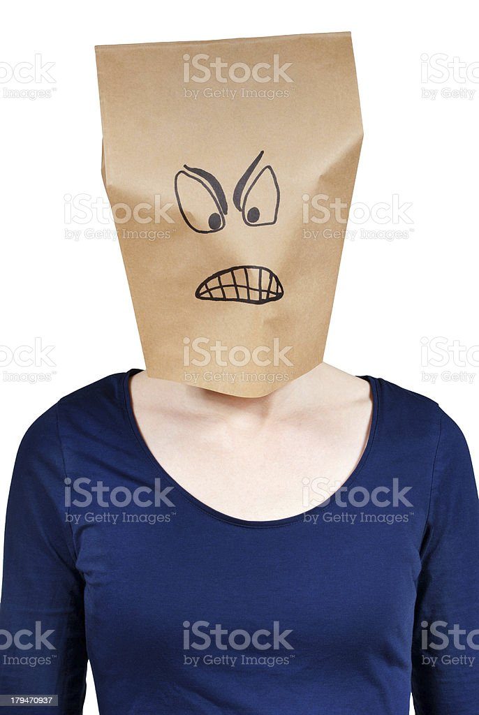 angry looking person stock photo